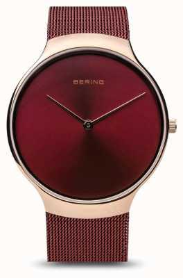 Bering |女性慈善手表|红色网带|红色表盘| 13338-CHARITY