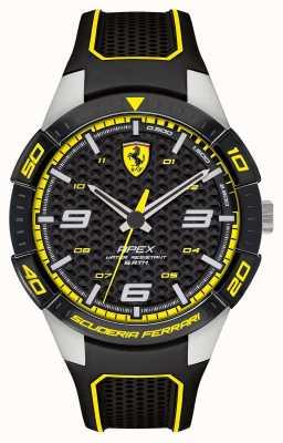 Scuderia Ferrari |男士的顶点|黑色橡胶表带|黑/黄色表盘| 0830631