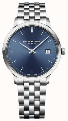 Raymond Weil |男士托卡塔|经典不锈钢|蓝色表盘| 5485-ST-50001