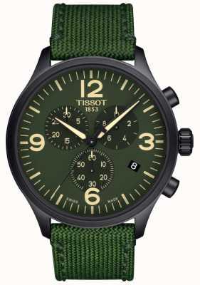 Tissot  男士计时xl  绿色织物表带 绿色表盘  T1166173709700