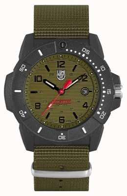 Luminox 海军海豹3600系列 绿色织带 黑色表盘 XS.3617.SET