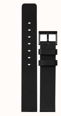 Leff Amsterdam |黑色皮革表带|黑色扣| LT74012-STRAP