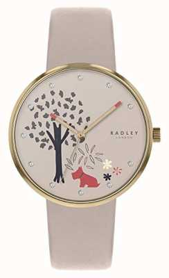 Radley |女式裸色皮带|树和狗图案拨号| RY2786