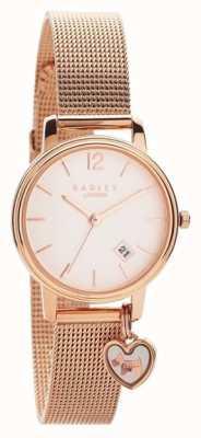 Radley |女式玫瑰金网手链|玫瑰金表盘| RY4390