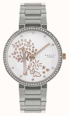 Radley |女式不锈钢手链|树图案表盘| RY4387