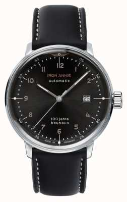 Junkers |铁安妮|鲍豪斯|自动|黑色皮革表带| 5056-2