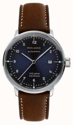 Junkers 铁安妮|鲍豪斯|棕色皮革表带|蓝色表盘 5056-3
