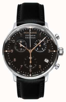 Junkers 铁安妮|鲍豪斯| chrono |黑色表盘|黑色皮革 5096-2