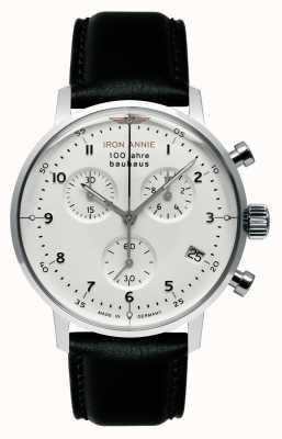 Junkers 铁安妮|鲍豪斯| chrono |白色表盘|黑色皮革 5096-1