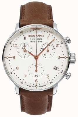 Junkers 铁安妮|鲍豪斯| chrono |白色表盘|棕色皮革 5096-4