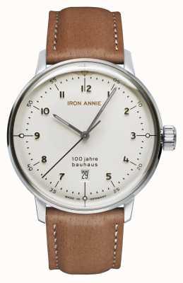 Junkers 铁安妮|鲍豪斯|白色表盘|棕色皮革表带 5046-1
