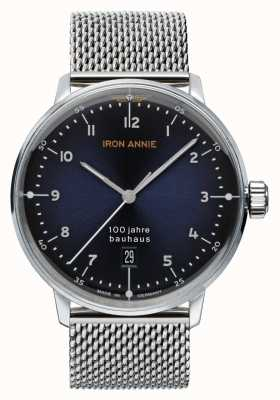 Iron Annie 包豪斯 |蓝色表盘|不锈钢网 5046M-3