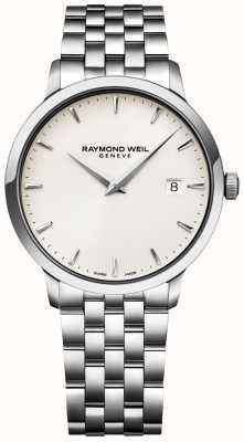 Raymond Weil 男士toccata手表奶油表盘不锈钢表链 5488-ST-40001