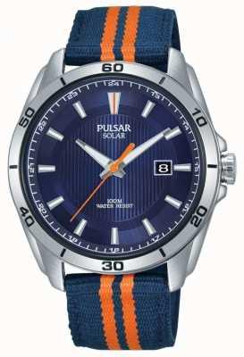 Pulsar |男士蓝色表盘|蓝色/橙色织物表带| PX3175X1