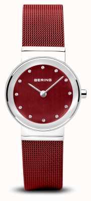 Bering 女装 经典 红色pvd钢网手链 10126-303