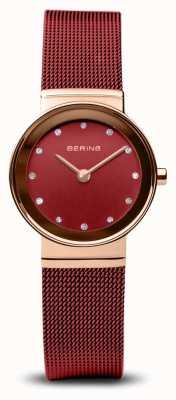 Bering 女装|经典|红色pvd钢网手链 10126-363