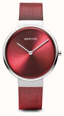 Bering 女装|经典|红色pvd镀钢网手链 14531-303