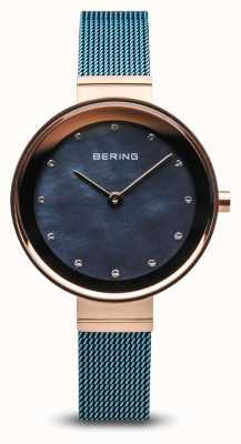 Bering 女装|经典|蓝色pvd镀钢网 10128-368
