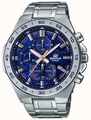 Casio |大厦计时码表|不锈钢手链|蓝色表盘 EFR-564D-2AVUEF