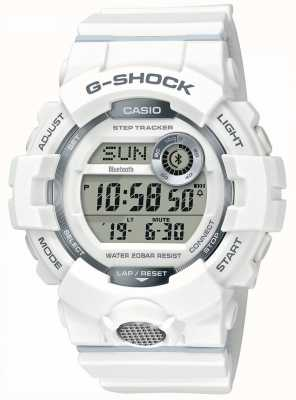 Casio | g-shock |运动手表,步跟踪器|白色橡胶表带 GBD-800-7ER