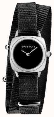 Briston | clubmaster女士|黑色北约表带|黑色表盘| 19924.S.M.1.NB