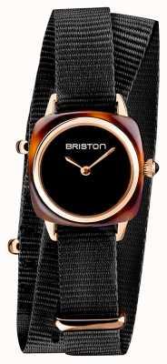 Briston | clubmaster女士|黑色北约|玫瑰金pvd表壳| 19924.SPRG.M.1.NB