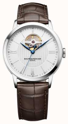 Baume & Mercier |男士classima |棕色皮革|银色表盘|自动| BM0A10274