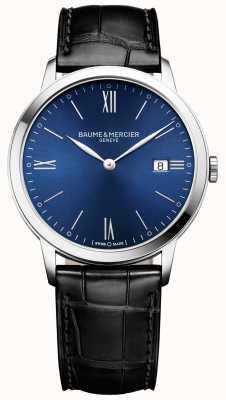 Baume & Mercier |男装|黑色皮革表带|蓝色表盘| M0A10324