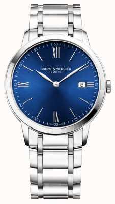 Baume & Mercier |男士classima |不锈钢手链|蓝色表盘| BM0A10382