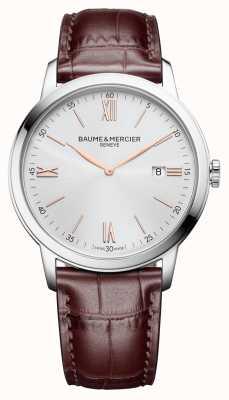 Baume & Mercier |男士classima |浅棕色皮革|银色表盘| BM0A10415