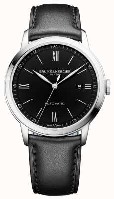 Baume & Mercier |男士classima |自动|黑色皮革|黑色表盘| BM0A10453