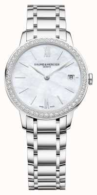 Baume & Mercier |女子经典|钻石表圈|不锈钢手链 BM0A10478