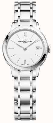 Baume & Mercier |女子经典|不锈钢手链|白色表盘| BM0A10489