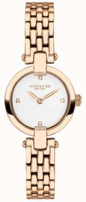 Coach |女士| chrystie |玫瑰金pvd手链|白色表盘| 14503392
