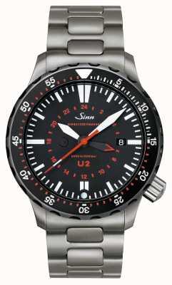 Sinn U2 sdr u-boat钢制任务计时器 1020.040bracelet
