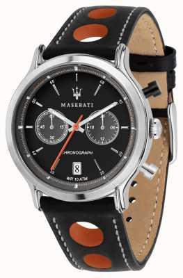 Maserati | epoca racing 42mm |黑色皮革表带|黑色表盘| R8851138003
