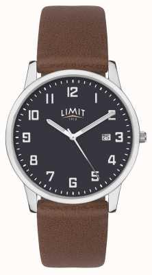 Limit |男士棕色皮表带|蓝色表盘| 5743.01