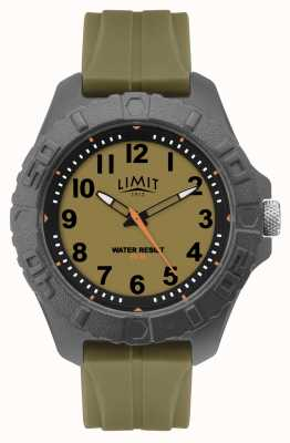 Limit |男性活跃成人类似物|绿色橡胶表带| 5753.01