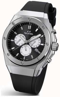 TW Steel Ceo tech | chrono |黑色表盘|黑色橡胶表带 TWCE4041