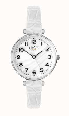 Limit |女式白色皮革表带|珍珠贝母拨号| 60061.01