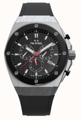 TW Steel Ceo tech | chrono |黑色表盘|黑色橡胶表带 CE4042