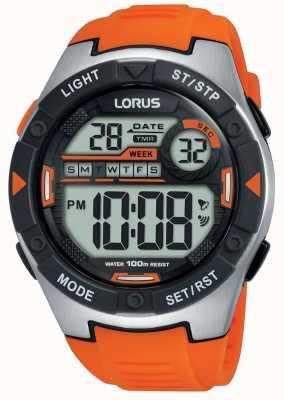 Lorus |男子运动数码|橙色橡胶表带| R2303NX9