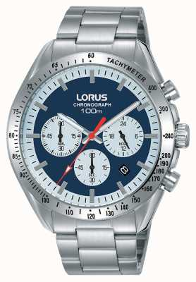 Lorus  男士计时码表 不锈钢手链 蓝色表盘  RT339HX9