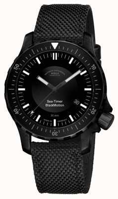 Muhle Glashutte |海洋计时器黑色运动|黑色合成手链| M1-41-83-NB