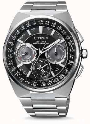 Citizen 男士波卫星GPS计时码表F900钛手链黑色表盘手表 CC9008-84E