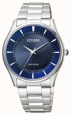 Citizen |男士生态驱动器|不锈钢手链|蓝色表盘| BJ6480-51L
