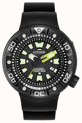 Citizen |男士生态驱动promaster潜水员|黑色橡胶表带| BN0175-01E