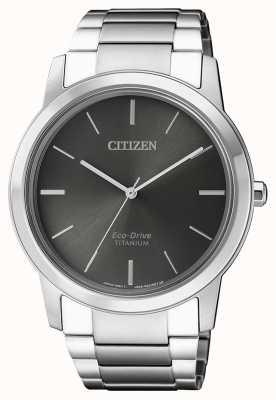 Citizen  男士生态驱动钛wr50  灰色表盘 AW2020-82H