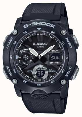 Casio | g-shock碳纤维芯护罩|黑色橡胶表带| GA-2000S-1AER