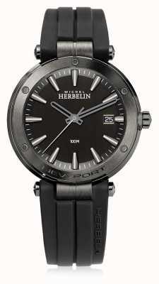 Michel Herbelin |男士纽波特|黑色橡胶表带|黑色表盘| 12288/G33CA